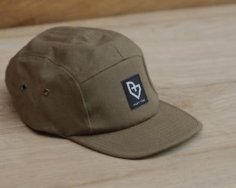 Part time, 5 pannel cap, khaki Army style hat, skate fashion