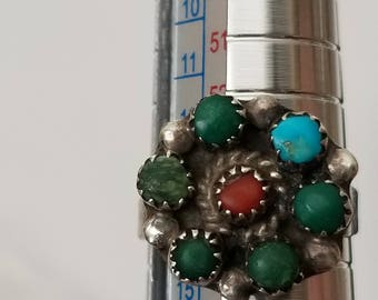 Vintage Ring with Multi Colorful Stone