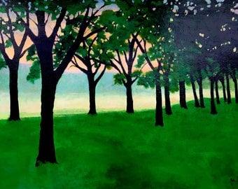 Peach Sky, Original Acrylic Painting