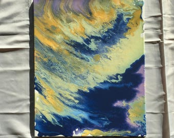 "Original Fluid Abstract Painting ""Skagit Valley"" - 16""x20"""
