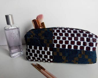 Makeup bag - Wax fabric - several fabric options available