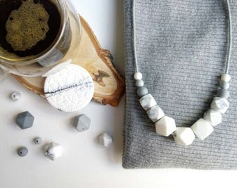 Teething necklace, very delicious.
