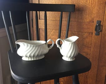 Set of two ironstone serving pieces