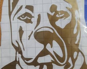 Pitbull Head Sticker