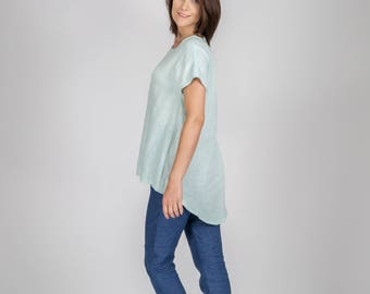 womens casual clothing, soft linen shirt, womens clothes, linen blouse, linen top, summer dress,