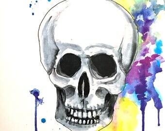 Rainbow Skull