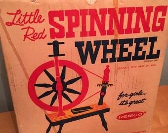 Little Red Spinning Wheel Vintage 1961