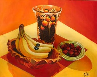 Fruit Still-Life in Warm Colors