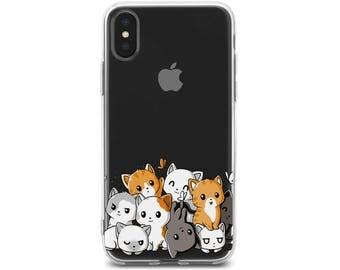 iPhone 7 case kawaii cat iPhone 6 plus case cute cat iPhone 7 plus case iphone x cat case iPhone 8 case iphone 8 cat case iPhone X case
