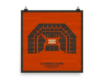 Carrier Dome Wall Art - Syracuse University Orange Basketball