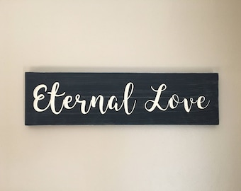 Eternal Love - beautifully carved wood decor