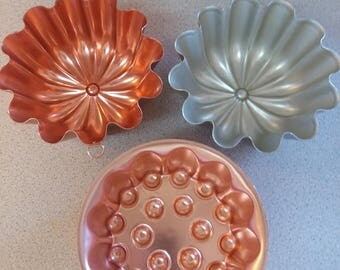 Aluminum Jello Molds from the 1960's - Retro style!