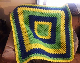 Baby Grannie Square Receiving Blanket