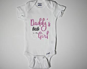 Daddy's Little Girl Onesie. Baby Girl Bodysuit