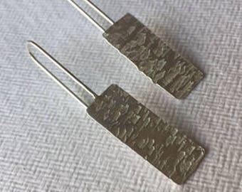 contemporary textured handmade simple earrings