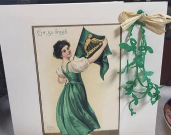 Erin go Bragh greeting card. Seed paper card