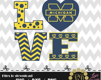 Love michigan wolverines svg,png,dxf,cricut,silhouette,college,jersey,shirt,proud,birthday,clemson,auburn,cut,university,football,basketball