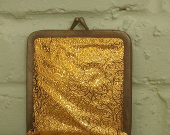 Vintage gold mirror compact