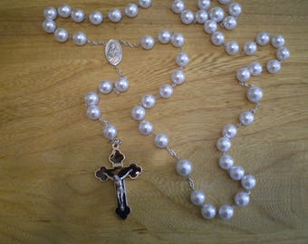 Extra Large Rosary Wall Hanging Rosary Alabaster Bead Made In