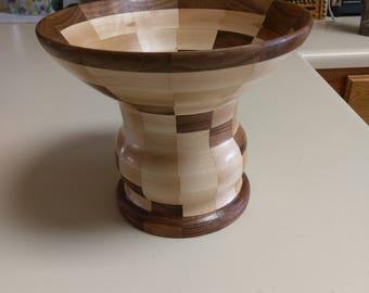 Segmented wood vase