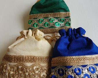 Embroidered and embellished bags
