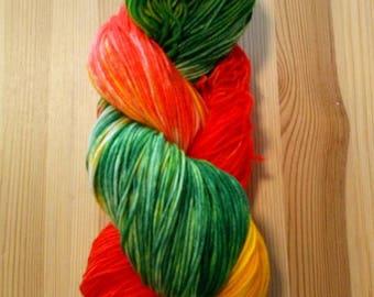 Tuchgarn, 100% merino wool, hand dyed wool