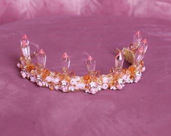 White Gold Crystar Tiara Crown for wedding dress, diademe for evening dress, princess tiara wedding tiaras