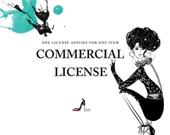 Commercial license. For a single product. No credit required.