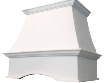 "Cast Stone Kitchen Vent Hood/Range Hood 30"" w x 30"" h (fits 8-foot ceiling) Kitchen Exhaust CAPRI"