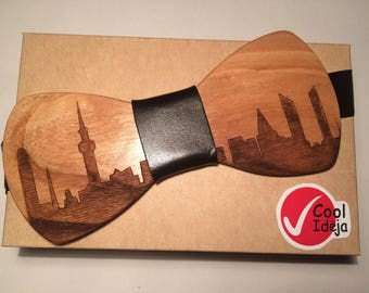 Wooden Bow-Tie - City