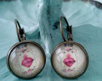 Sacred Heart Dome Earrings