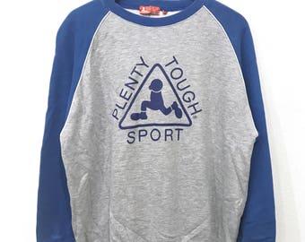 Rare! Vintage 90's Plenty Tough Sport Big Logo Sweatshirt