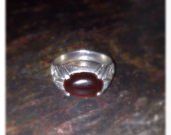 Handmade Silver Carnelian Ring