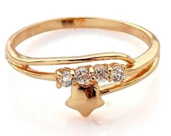 BestOfBijoux® Xandra - Star Design Ring - Women Ring - Cubic Zirconia