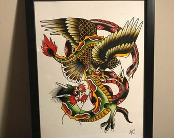 Traditional Eagle, Snake, and Dragon Fight