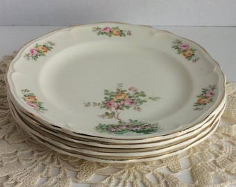 Vintage Edwin M. Knowles China Bread & Butter Plates set of 4