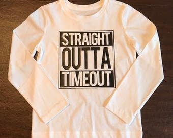 Straight Outta Timeout Toddler T Shirt