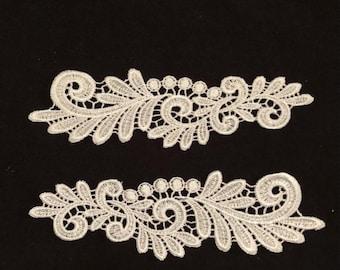 White lace applique