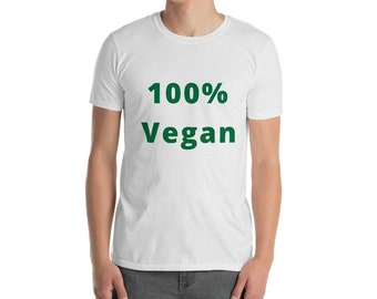 100% Vegan - short sleeve unisex t-shirt