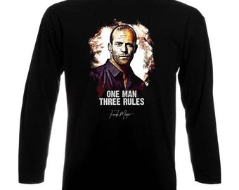 Inspired By The Transporter Jason Statham One Man Three Rules Long Sleeve T-Shirt