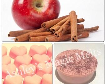 3 Apple cinnamon soy wax melts, highly fragranced melts, cheap wax melts, wax melt tarts, fruit scented wax, wholesale wax melts