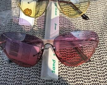 Frameless on top - Semi oval sunglasses
