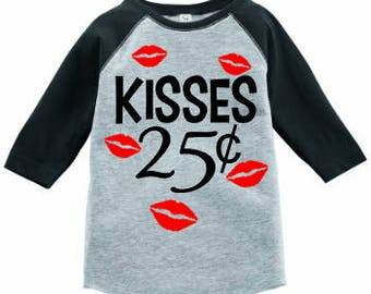 Kisses25cents/Valentines Day Shirts/Heart Shirts/Boy Valentines Shirts/valentines boy shirt