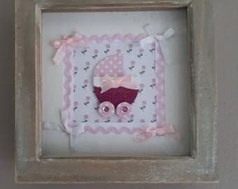 Pink little girl frame