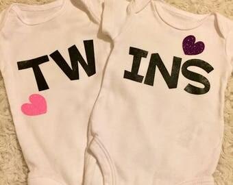 Twins Heart Onesies