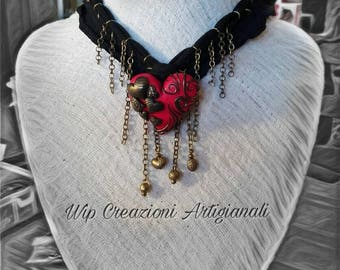 Heart and chain necklace