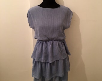 Vintage 80's pale blue RARA dress