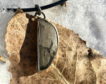 Petrified Wood Sterling Necklace