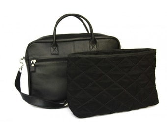 MJ Leather Bag Handmade in Morocco,Black Color Leather Goods