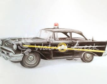 Kentucky State Police Classic Car Art